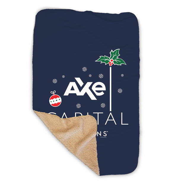 Billions Festive Axe Capital Stacked Logo Sherpa Blanket