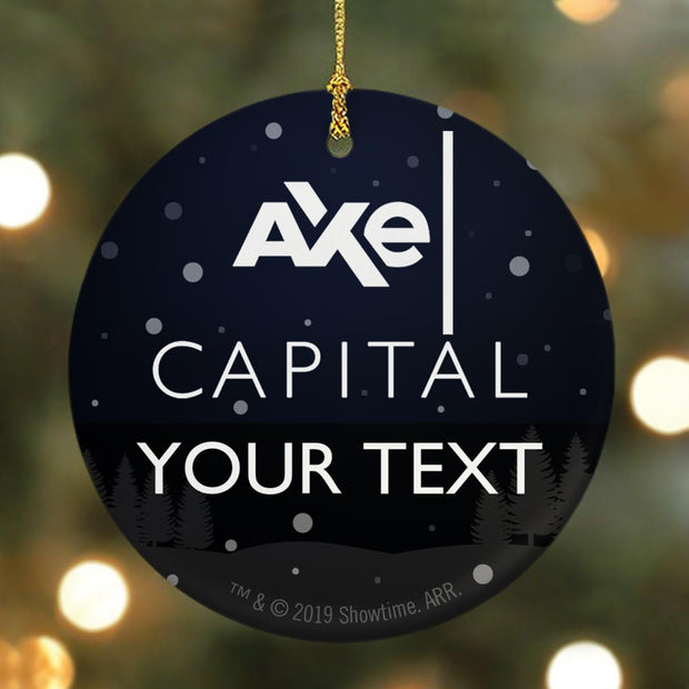 Billions Axe Capital Personalized Stacked Logo Double Sided Ornament