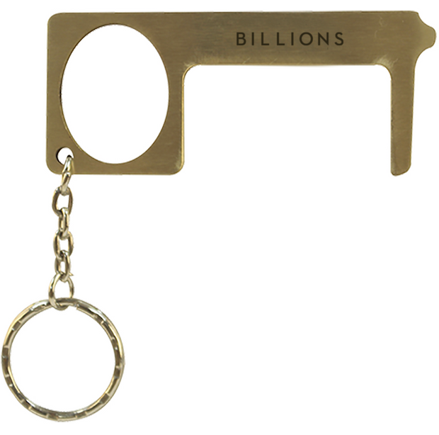 Billions Logo Laser Engraved Brass No Touch Tool