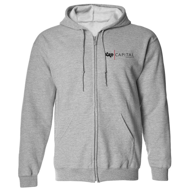 Billions Axe Capital Horizontal Logo Traditional Fleece Zip Hoodie