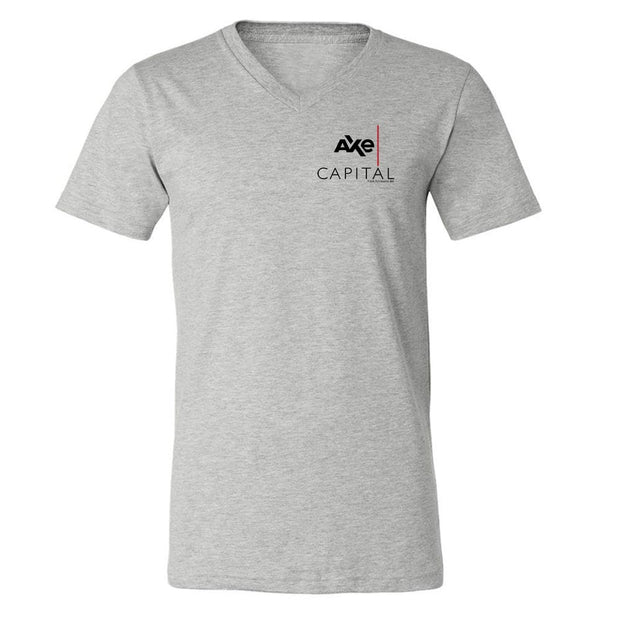 Billions Axe Capital Stacked Logo Adult V-Neck T-Shirt
