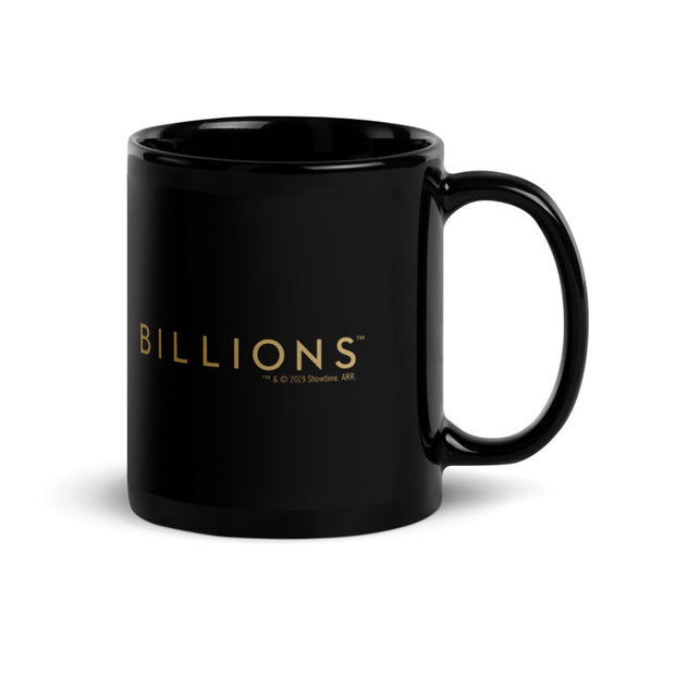 Billions Gold Logo Black 11 oz Mug