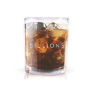 Billions Logo Rocks Glass