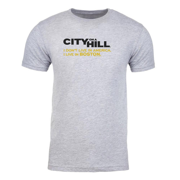 City on a Hill I Don't Live in America Adult Short Sleeve T-Shirt