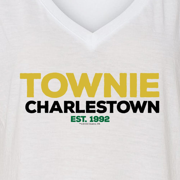 City on a Hill Charlestown Townie Women's Relaxed V-Neck T-Shirt