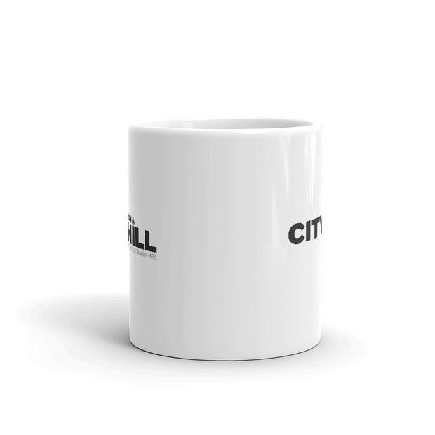 City on a Hill Logo White Mug