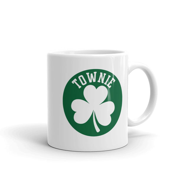 City on a Hill Shamrock Townie White Mug