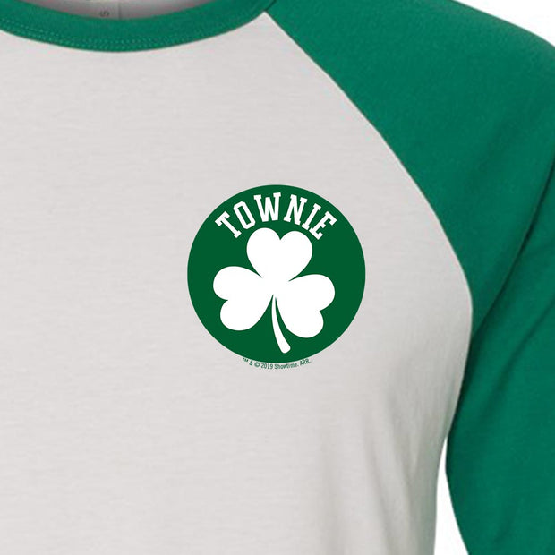 City on a Hill Shamrock Townie 3/4 Sleeve Baseball T-Shirt
