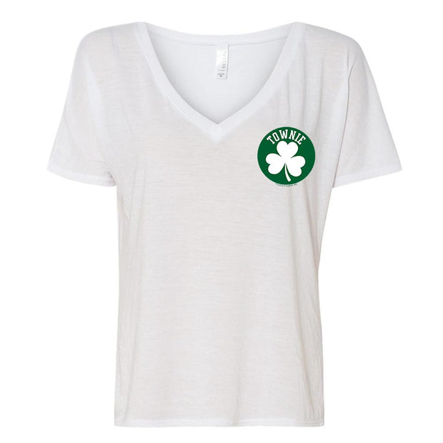 City on a Hill Shamrock Townie Women's Relaxed V-Neck T-Shirt
