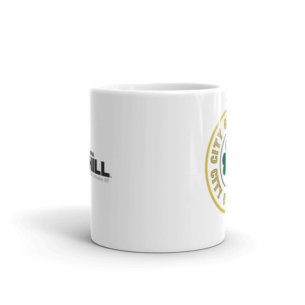 City on a Hill Shamrock White Mug