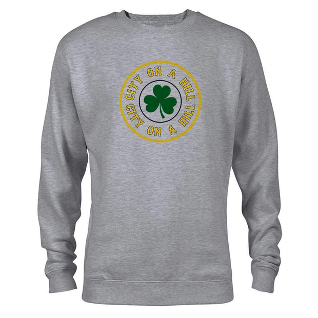 City on a Hill Shamrock Fleece Crewneck Sweatshirt