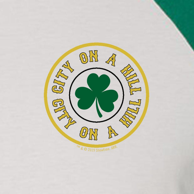 City on a Hill Shamrock 3/4 Sleeve Baseball T-Shirt
