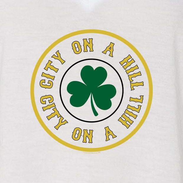 City on a Hill Shamrock Women's Relaxed V-Neck T-Shirt