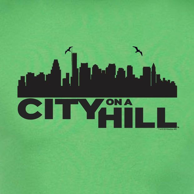 City on a Hill Skyline Adult Short Sleeve T-Shirt