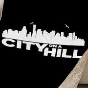 City on a Hill Skyline Sherpa Blanket
