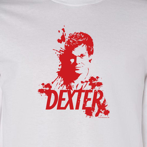 Dexter Blood Spatter Dexter Adult Long Sleeve T-Shirt