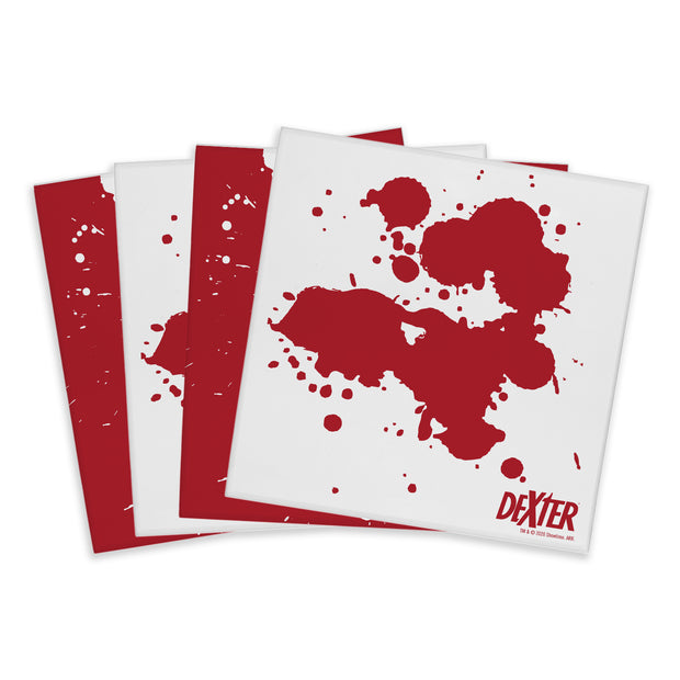 Dexter Blood Spatter Acrylic Coasters - Set of 4