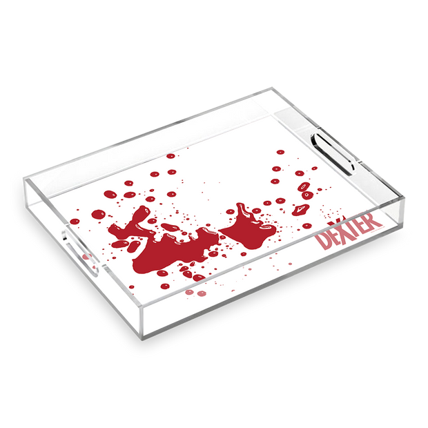 Dexter Blood Spatter Acrylic Tray