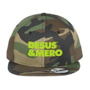 Desus & Mero Neon Logo Embroidered Flat Bill Hat