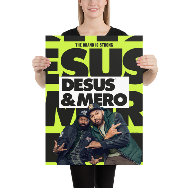 Desus & Mero Season 2 Key Art Premium Satin Poster