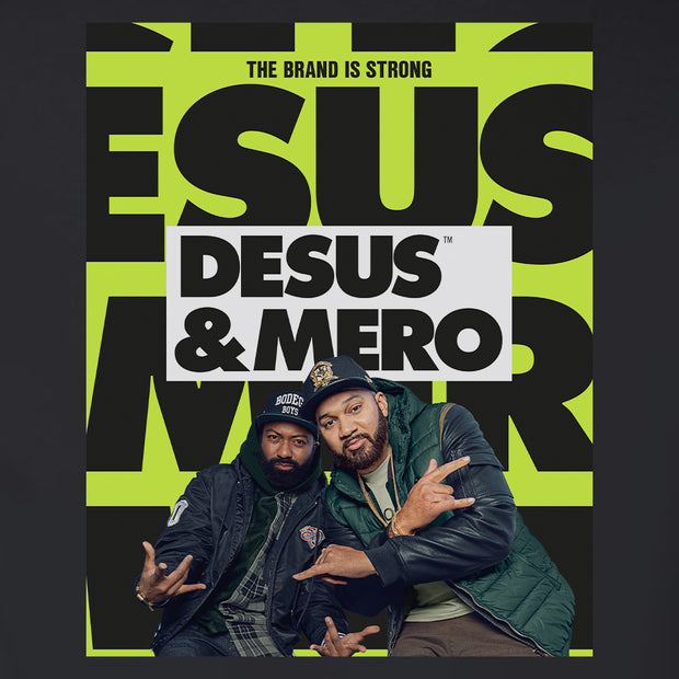 Desus & Mero Season 2 Key Art Fleece Zip-Up Hooded Sweatshirt