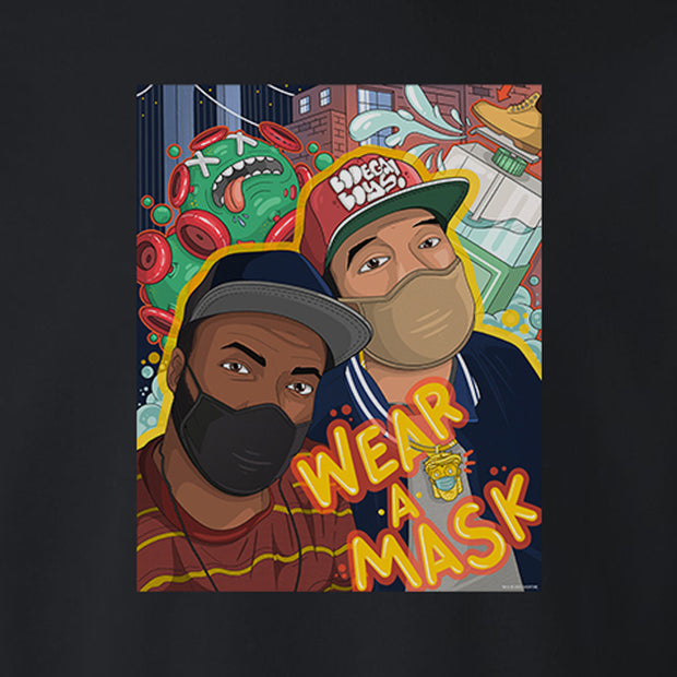 Desus & Mero Bodega Boys Wear A Mask Fleece Crewneck Sweatshirt
