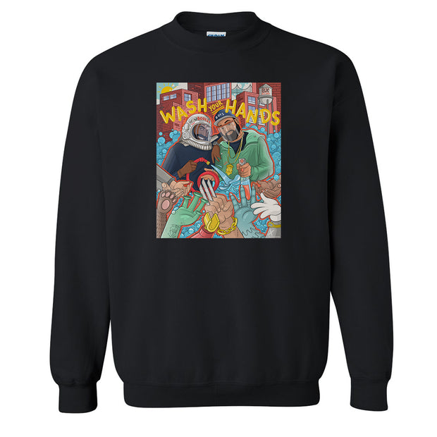 Desus & Mero Bodega Boys Wash Your Hands Fleece Crewneck Sweatshirt
