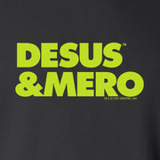 Desus & Mero Neon Logo Fleece Zip-Up Hooded Sweatshirt