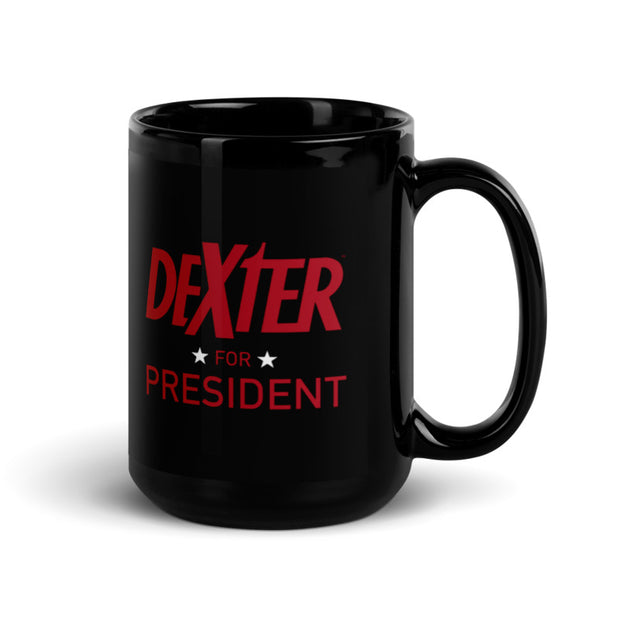 Dexter For President Black Mug