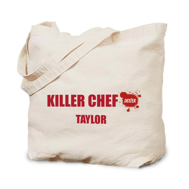 Dexter Killer Chef Personalized Canvas Tote Bag