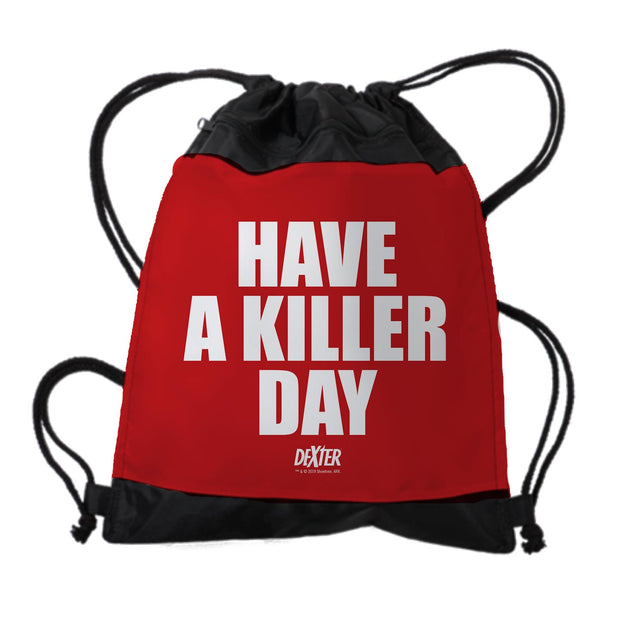 Dexter Have a Killer Day Drawstring Bag