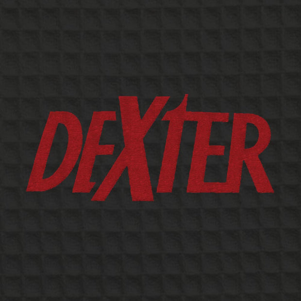 Dexter Embroidered Waffle Robe