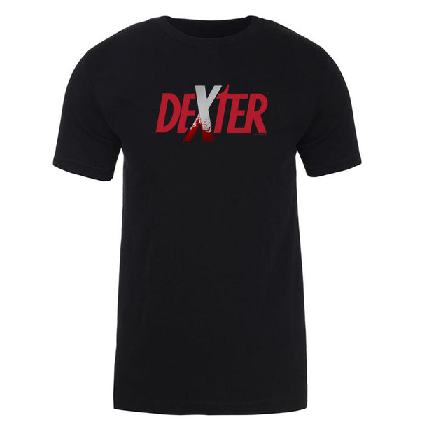 Dexter Splatter Logo Adult Short Sleeve T-Shirt
