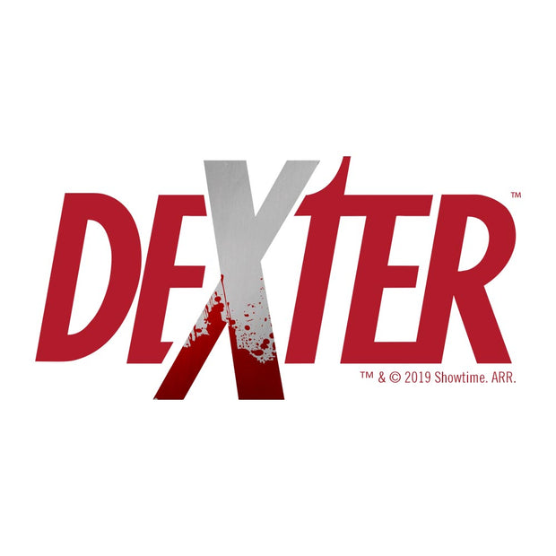 Dexter Splatter Logo Adult Long Sleeve T-Shirt