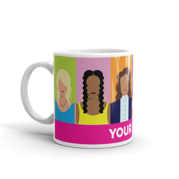 The L Word: Generation Q Personalized Horizontal Faces 11 oz White Mug