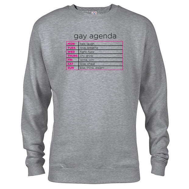 The L Word Gay Agenda Fleece Crewneck Sweatshirt