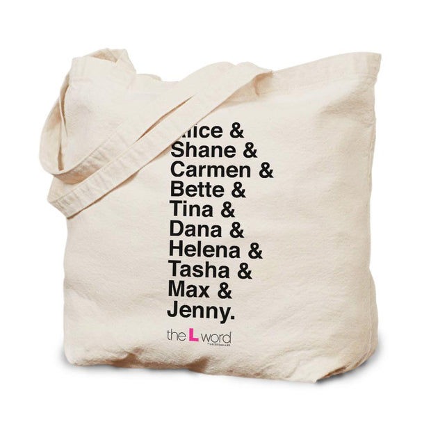 The L Word Characters Canvas Tote
