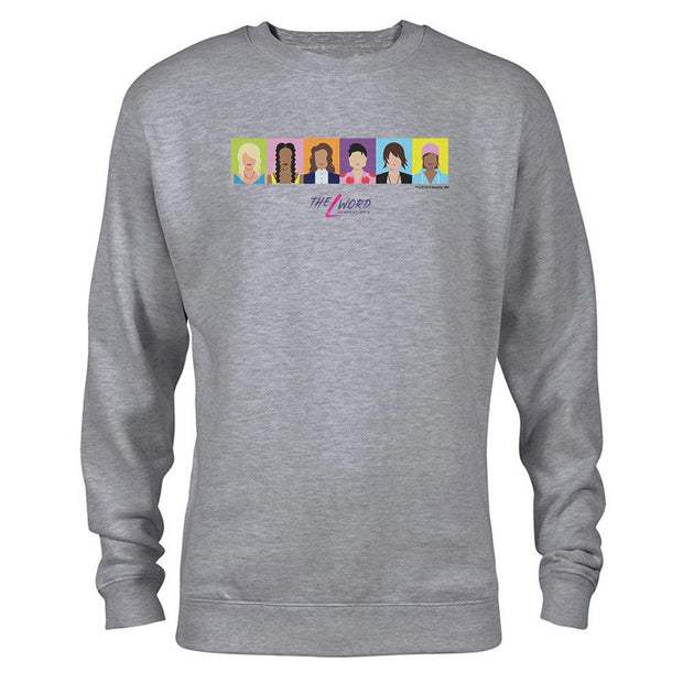 The L Word: Generation Q Horizontal Faces Fleece Crew Neck Sweatshirt