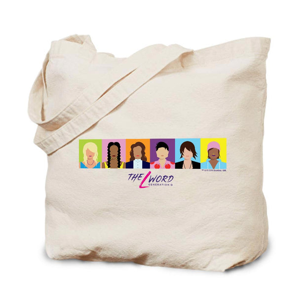 The L Word: Generation Q Horizontal Faces Canvas Tote Bag