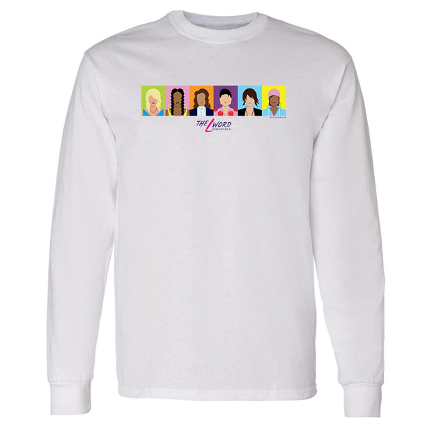 The L Word: Generation Q Horizontal Faces Adult Long Sleeve T-Shirt