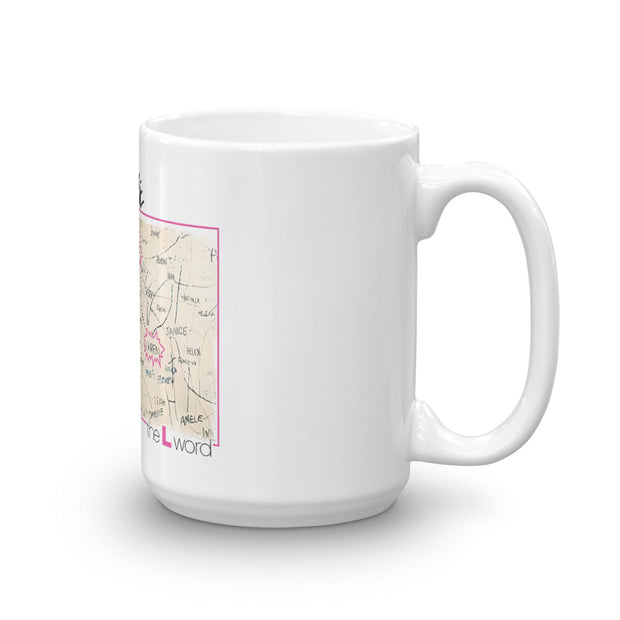 The L Word The Chart White Mug