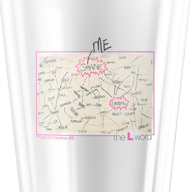 The L Word The Chart 17 oz Pint Glass
