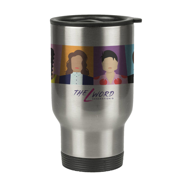 The L Word: Generation Q Horizontal Faces 14 oz Stainless Steel Travel Mug