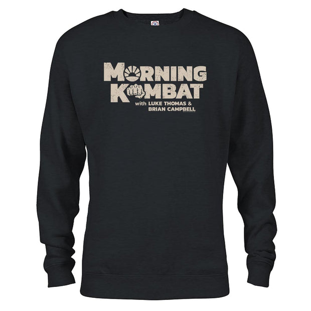 Morning Kombat Logo with Names Fleece Crewneck Sweatshirt