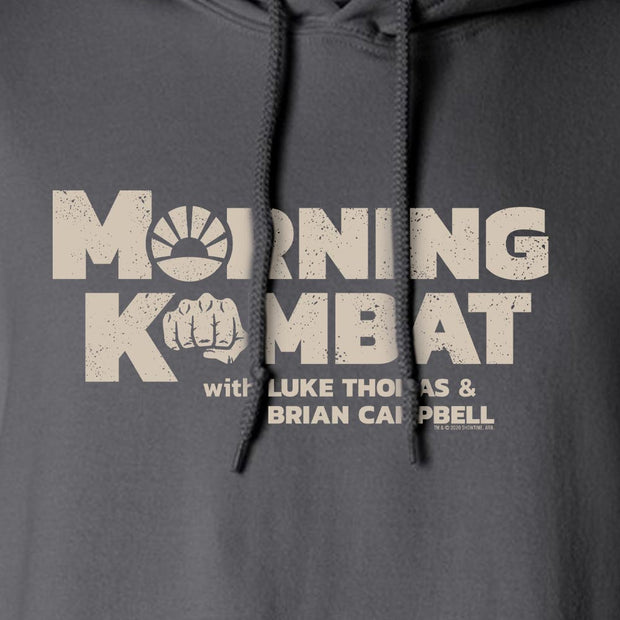 Morning Kombat Logo with Names Fleece Hooded Sweatshirt