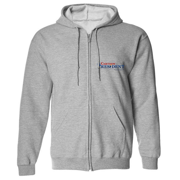Our Cartoon President Logo Fleece Zip-Up Hooded Sweatshirt