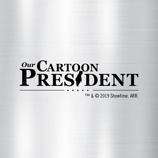 Our Cartoon President Logo Stainless Steel Travel Mug