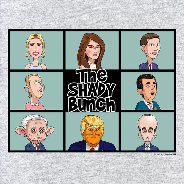 Our Cartoon President Shady Bunch Adult Short Sleeve T-Shirt