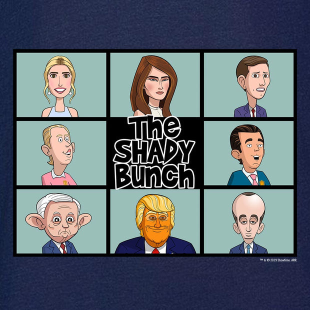 Our Cartoon President Shady Bunch Lightweight Crew Neck Sweatshirt