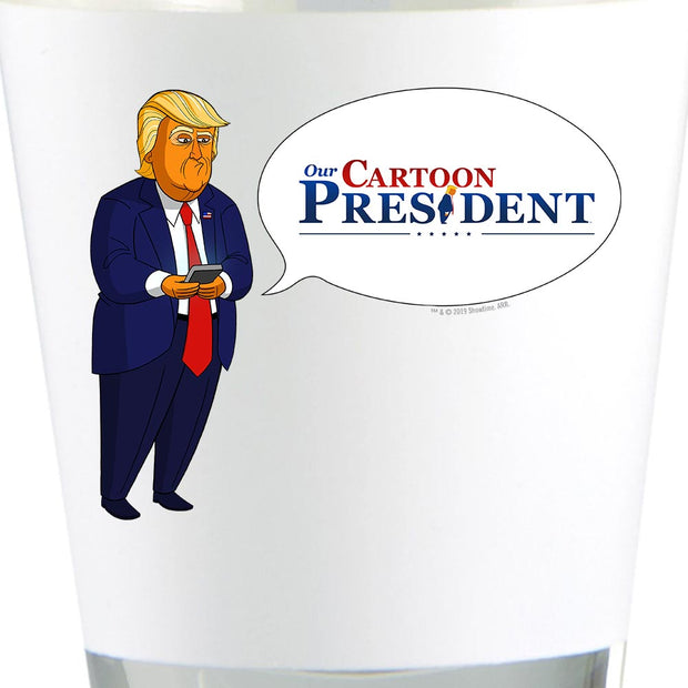 Our Cartoon President Tweet Shot Glass